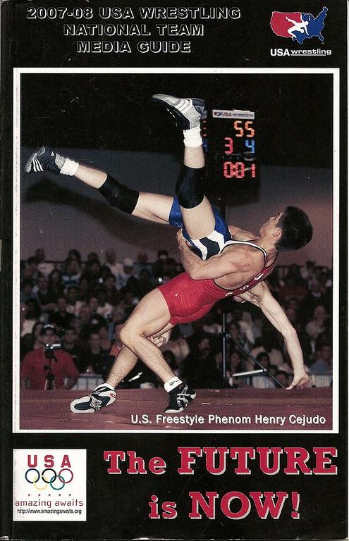 2007-2008 USA Wrestling Guide Cover